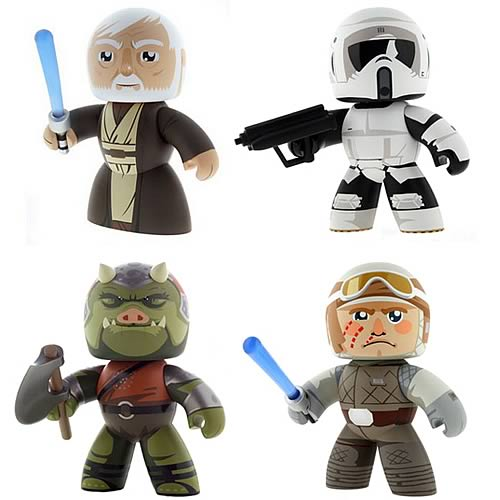 Obi-Wan Kenobi, Scout Trooper, Hoth Luke Skywalker, Gamorrean Guard